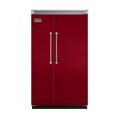 "Viking - Apple Red 48"" Quiet Cool™ Side-by-Side Refrigerator/Freezer - VISB Tru-Flush™ (48"" wide)"