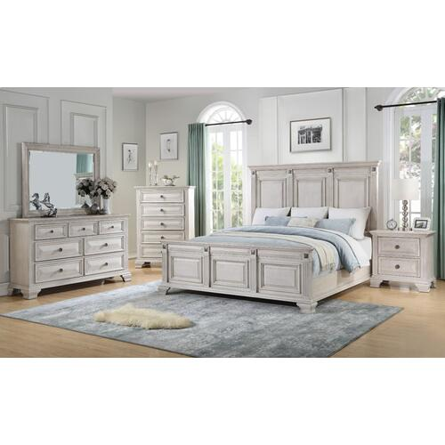 Passages Light 5-Drawer Chest, White