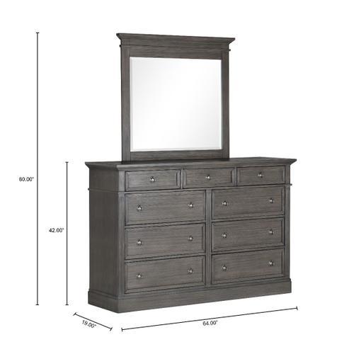 Amberleigh 9-Drawer Dresser, Grey