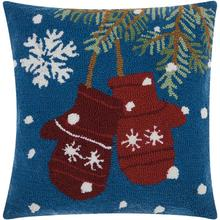 "Home for the Holiday Yx029 Multicolor 18"" X 18"" Throw Pillow"