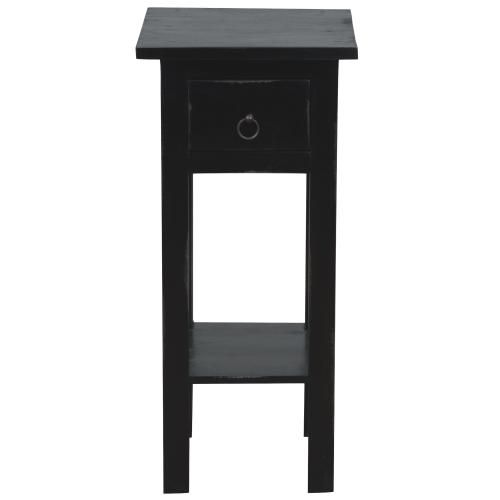 Side Table - Distressed Antique Black