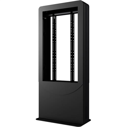 Portrait Back-to-Back Kiosks - Black / 49