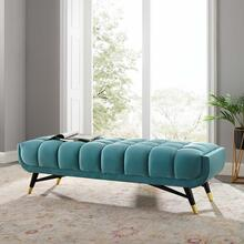 "Adept 60"" Performance Velvet Bench in Sea Blue"