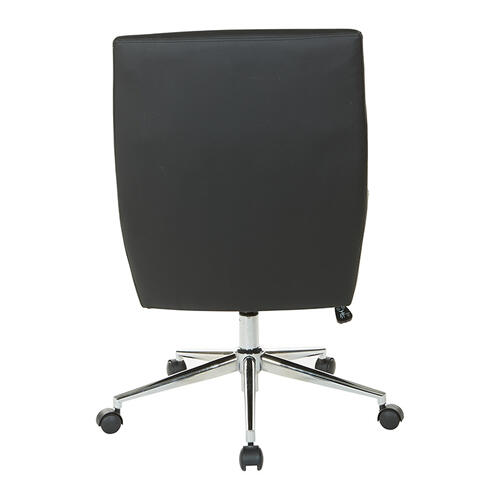 Office Star - Modern Chrome Office Chair With Faux Leather