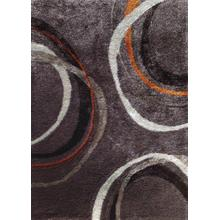Vibrant Hand Tufted Modern Shag Lola 11 Area Rug by Rug Factory Plus - 5' x 7' / Mocha
