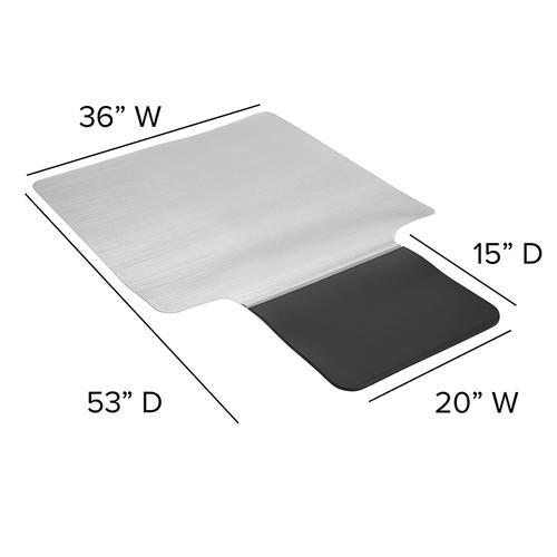 """Flash Furniture - Sit or Stand Mat Anti-Fatigue Support Combined with Floor Protection (36"""" x 53"""")"""