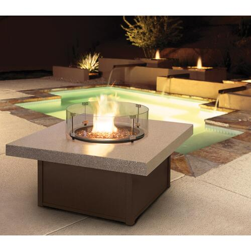 "54"" Round Balcony Fire Table Ht: 34.5"" Valero Aluminum Base (Indicate Top, Frame, & Side Panel Color)"