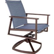 Sling Swivel Rocker Dining Arm Chair Product Image