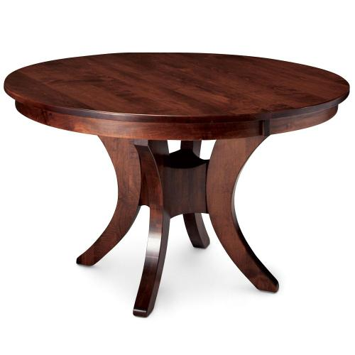 """Simply Amish - Park Avenue Single Pedestal Table, 48"""" round (Max 3 Leaves) / Three 12"""" Leaves"""