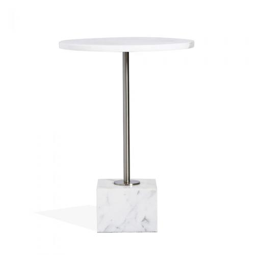 Rian Marble Side Table - Arabescato