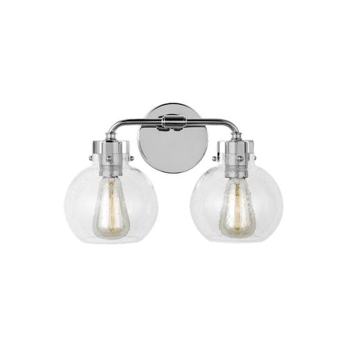 Clara 2 - Light Vanity Polished Nickel/Textured Black