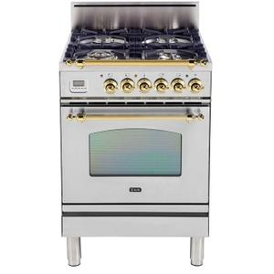 24 Inch Stainless Steel Natural Gas Freestanding Range