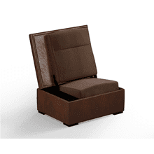 JumpSeat Ottoman, Acorn Cover / Mocha Seat