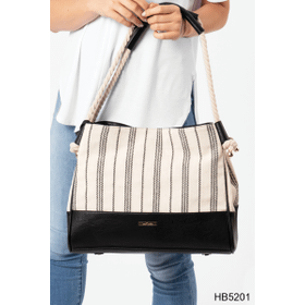 Nautical Striped Rope Handle Tote (3 pc. ppk.)