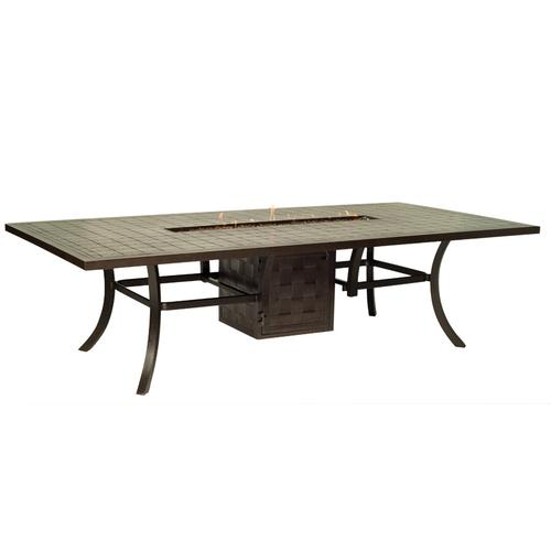 """Castelle - 108"""" Classical Rectangular Firepit Dining Table"""