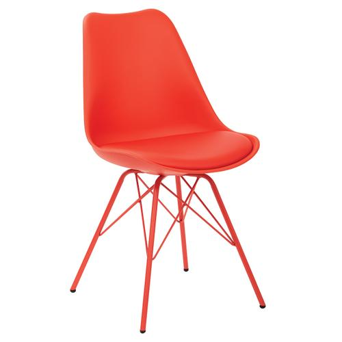 Office Star - Emerson Student Side Chair With 4 Leg Base In Red Finish