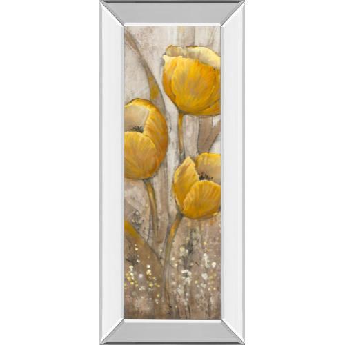 """Ochre Tulips Il"" By Tim Otoole Mirror Framed Print Wall Art"
