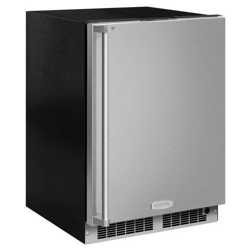 24-In Professional Built-In All Freezer with Door Style - Stainless Steel, Door Swing - Right