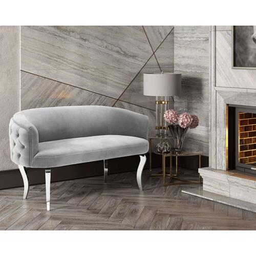 Tov Furniture - Adina Grey Velvet Loveseat