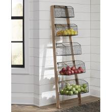 Accent Leaning Shelf with Baskets