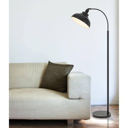 60W Dijon adjustable metal floor lamp with weight base and on off socket switch