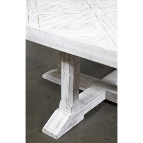 Madison - Parquet Coffee Table - Rustic White Finish