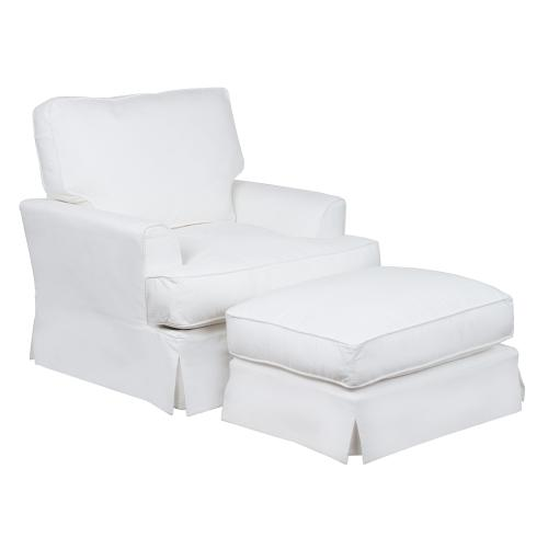 Product Image - Ariana Slipcovered Living Room Set - Performance White (3 Piece)