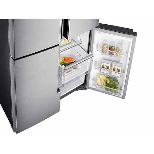 23 cu. ft. Counter Depth 4-Door Flex™ Refrigerator with FlexZone™ in Stainless Steel