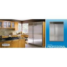 """See Details - 60"""" Side by Side Refrigerator/Freezer - 60"""" Marvel Professional Side-by-Side Refrigerator/Freezer - Stainless Steel Interior, Stainless Steel Freezer Door/Glass Refrigerator Door"""