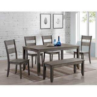 Sean Melamine 6-piece Dining Set Gray