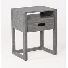 See Details - Vadstena Solid Wood Night Stand - Grey