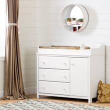 Changing Table with Station - Pure White