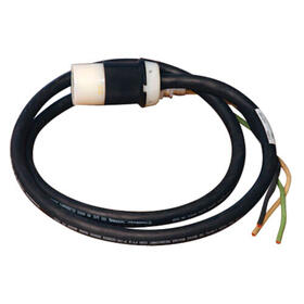 208/240V Single Phase Whip in 20 ft. (6.09 m) length with L6-30R for Breakered 3-Phase Distribution Cabinets