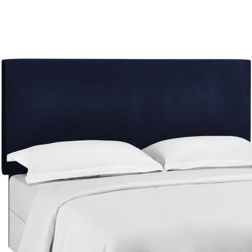 Taylor Twin Upholstered Performance Velvet Headboard in Midnight Blue