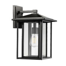 Small Coach Light - Textured Black - Clear Glass