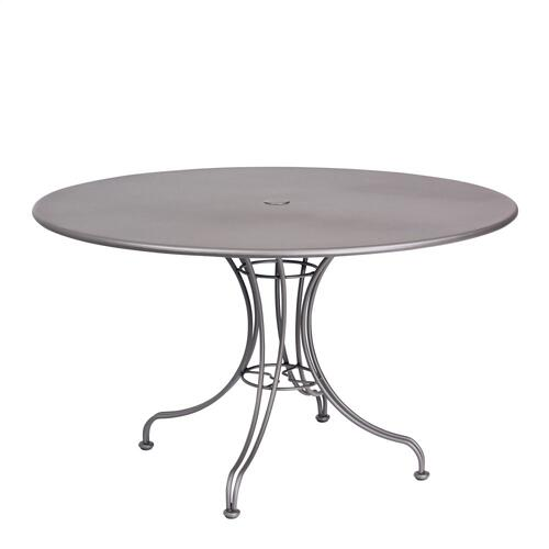 "Solid Iron 48"" Round Umbrella Table with Universal Base"
