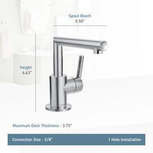 Arris matte black one-handle bathroom faucet