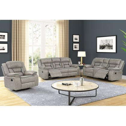 GLIDER CONSOLE LOVESEAT W/ DUAL RECLINERS