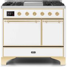 40 Inch Antique White Dual Fuel Natural Gas Freestanding Range