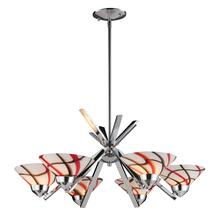 REFRACTION COLLECTION 6-LT CHANDELIER CRW GLASS
