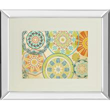 """Spirographics"" By Sd Graphics Studio Mirror Framed Print Wall Art"