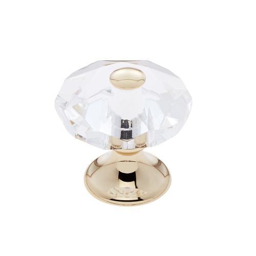 24k Gold 28 mm 8-Sided Crystal Knob