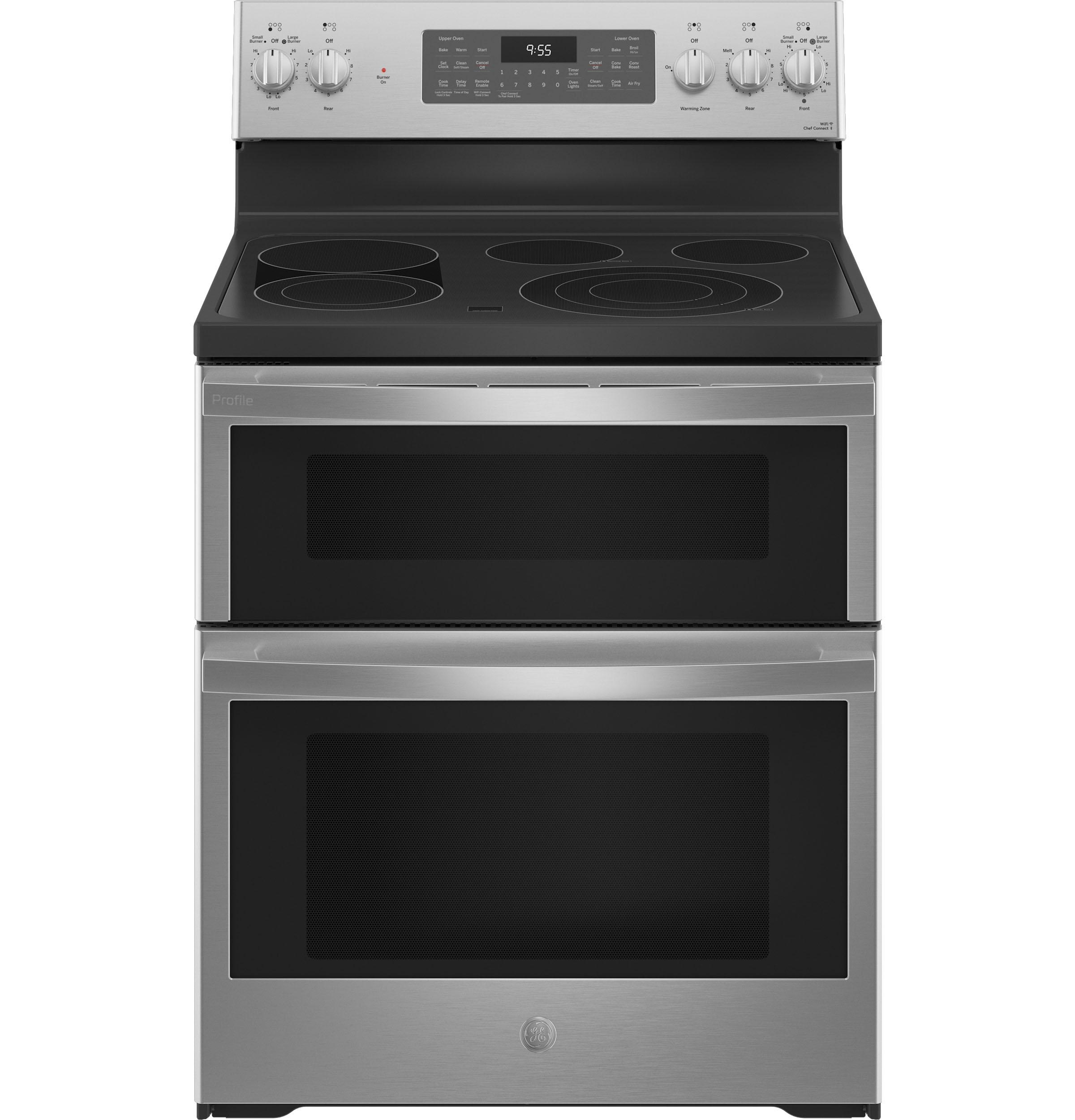 """GEGe Profile™ 30"""" Smart Free-Standing Electric Double Oven Convection Range With No Preheat Air Fry"""
