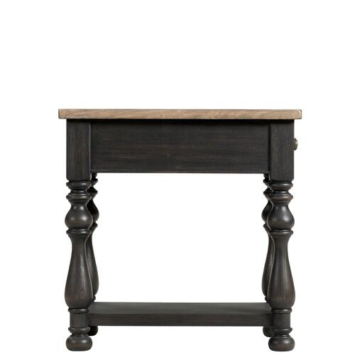 Barrington Two Tone - Side Table - Antique Oak/matte Black Finish