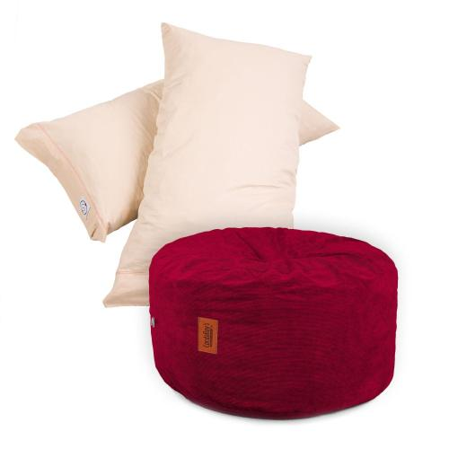 Pillow Pod Footstools - Corduroy - Wine
