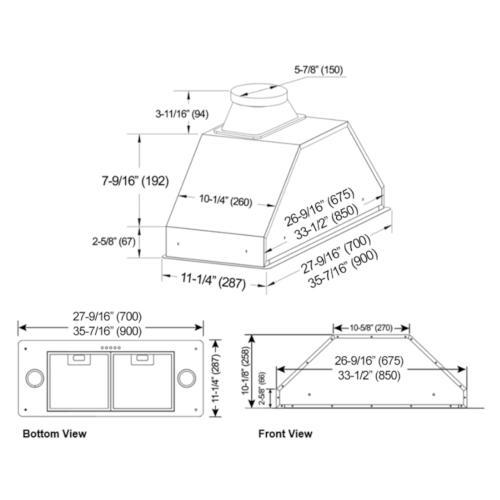 "Kobe - 30"" Built In / Insert - Brillia INX27 SQB-700-2 Series"