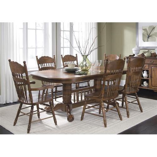 Liberty Furniture Industries - 7 Piece Double Pedestal Table Set