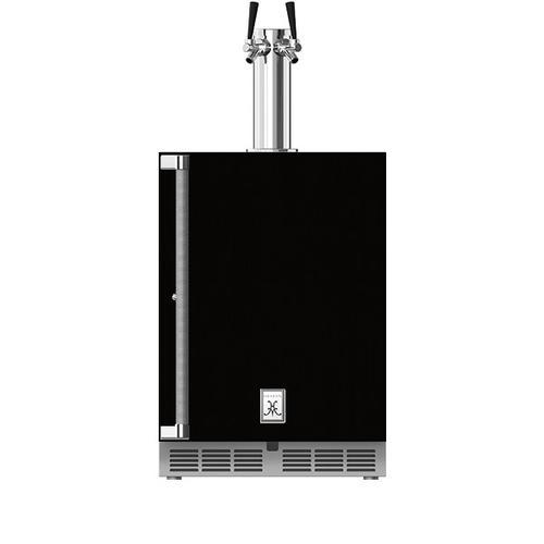 """Hestan - 24"""" Hestan Outdoor Double Faucet Beer Dispenser - GFDS Series - Stealth"""