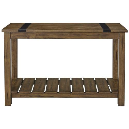 Gallery - Nelson Console Table, Distressed Brown