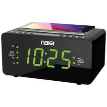 "Dual Alarm Clock with Qi® Wireless Charging (1.2"" Large Display)"